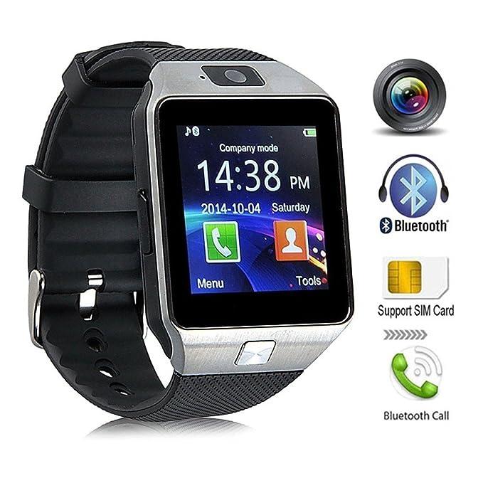 KeepGoo Bluetooth reloj inteligente - Reloj de pulsera watch Fit para smartphones iOS Apple iPhone 4/4S/5/5 C/5S Android Samsung S2/S3/S4/Note 2/Note ...