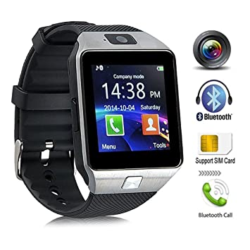 4274dbfa5 KeepGoo Bluetooth reloj inteligente - Reloj de pulsera watch Fit para  smartphones iOS Apple iPhone 4