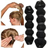 NALATI Beauté Buns Magic Hair Styling Styler Ring Twist Ancien Shaper Doughnut Donut Chignon Bun Maker clip Cheveux curleur Accessoire
