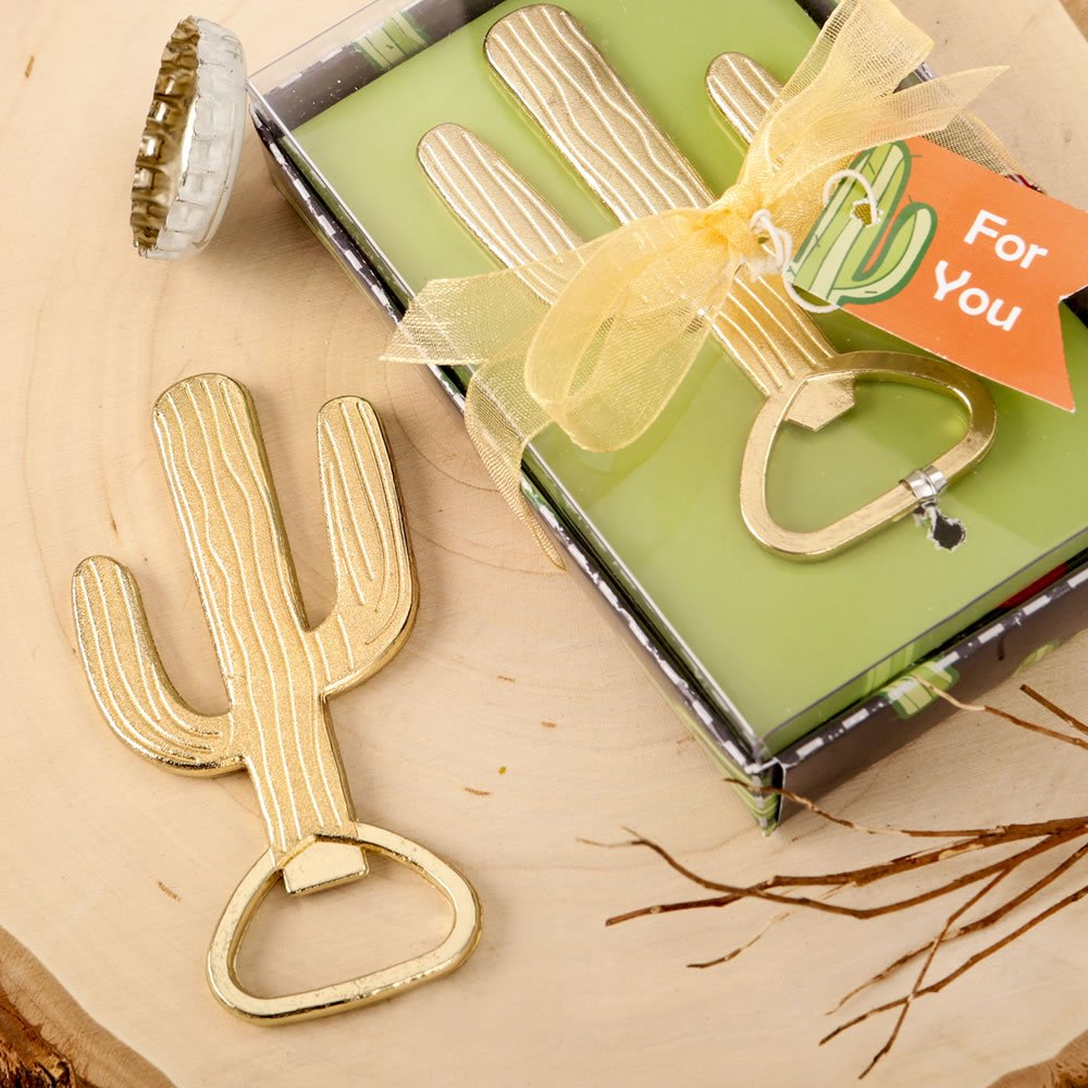 Gold Metal Cactus Bottle Opener Party Favors (96)