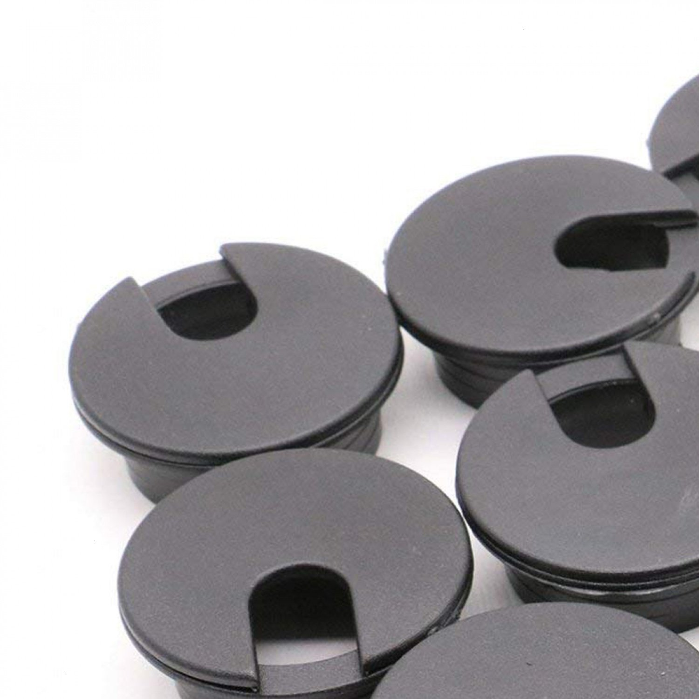 12 PCS Black Desk Grommets Plastic Wire Organizer,1.96 inches Buorsa