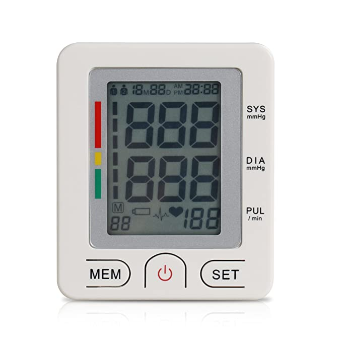 EUPH Tensiómetro Tensiómetro de muñeca digital Tensiómetro de muñeca ihb y Who indicador 90 x 2 Memoria para 2 usuarios: Amazon.es: Salud y cuidado personal