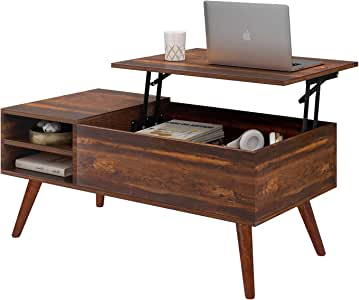Amazon.com: WLIVE Wood Lift Top Coffee Table with Hidden ...