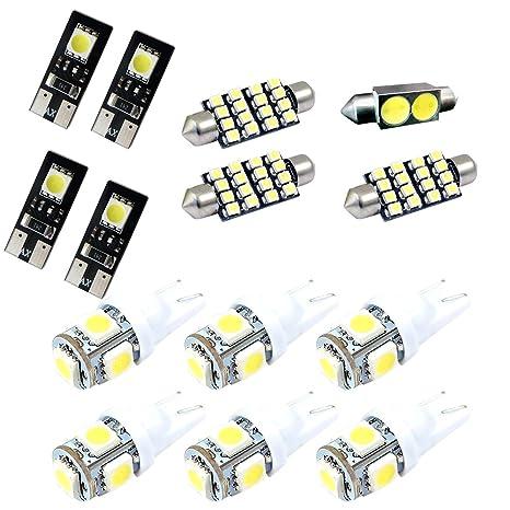 E90 4dr 2006 2010 Interior LED Kit Bulbs White 6000K Cool White For BMW :