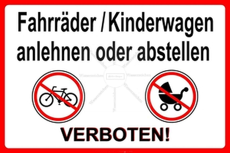 Sticker-Designs 15cm!Aufkleber-Folie Wetterfest Made IN Germany Fahrr/äder Kinderwagen anlehnen abstellen verboten S103 Jahre haltbar UV/&Waschanlagenfest Auto-Vinyl-Sticker Decal Profi Qualit/ät