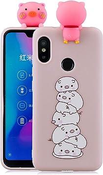 CoverTpu Funda Xiaomi Redmi Note 7, Funda Redmi Note 7 Silicona 3D Suave Ultra Delgado Ultrafina, Carcasa para Redmi Note 7 Antigolpes Flexible Goma Protectora Case Cerdo Rosa: Amazon.es: Electrónica