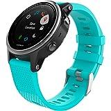美国MoKo GARMIN 佳明 Fenix 5S手表表带 Garmin 5S手环腕带 适配Garmin fenix5S智能手表运动软硅胶表带 孔雀蓝
