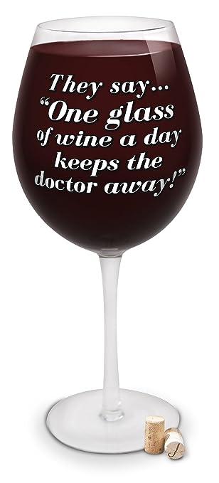 Amazoncom Bigmouth Inc Giant Wine Glass Withthey Sayone