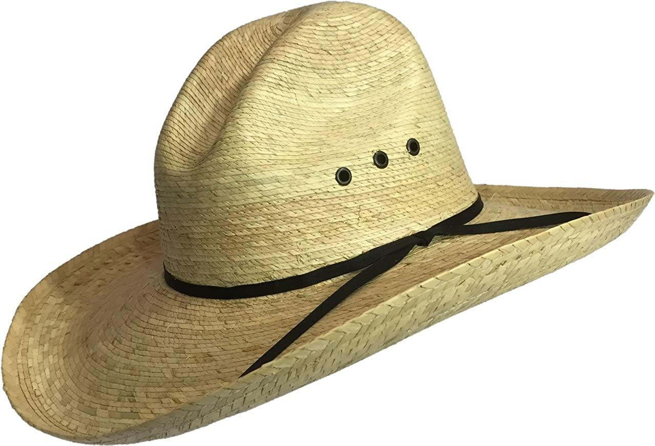 PALM LEAF COWBOY HAT GUS 509 BULL-SKULL HATS