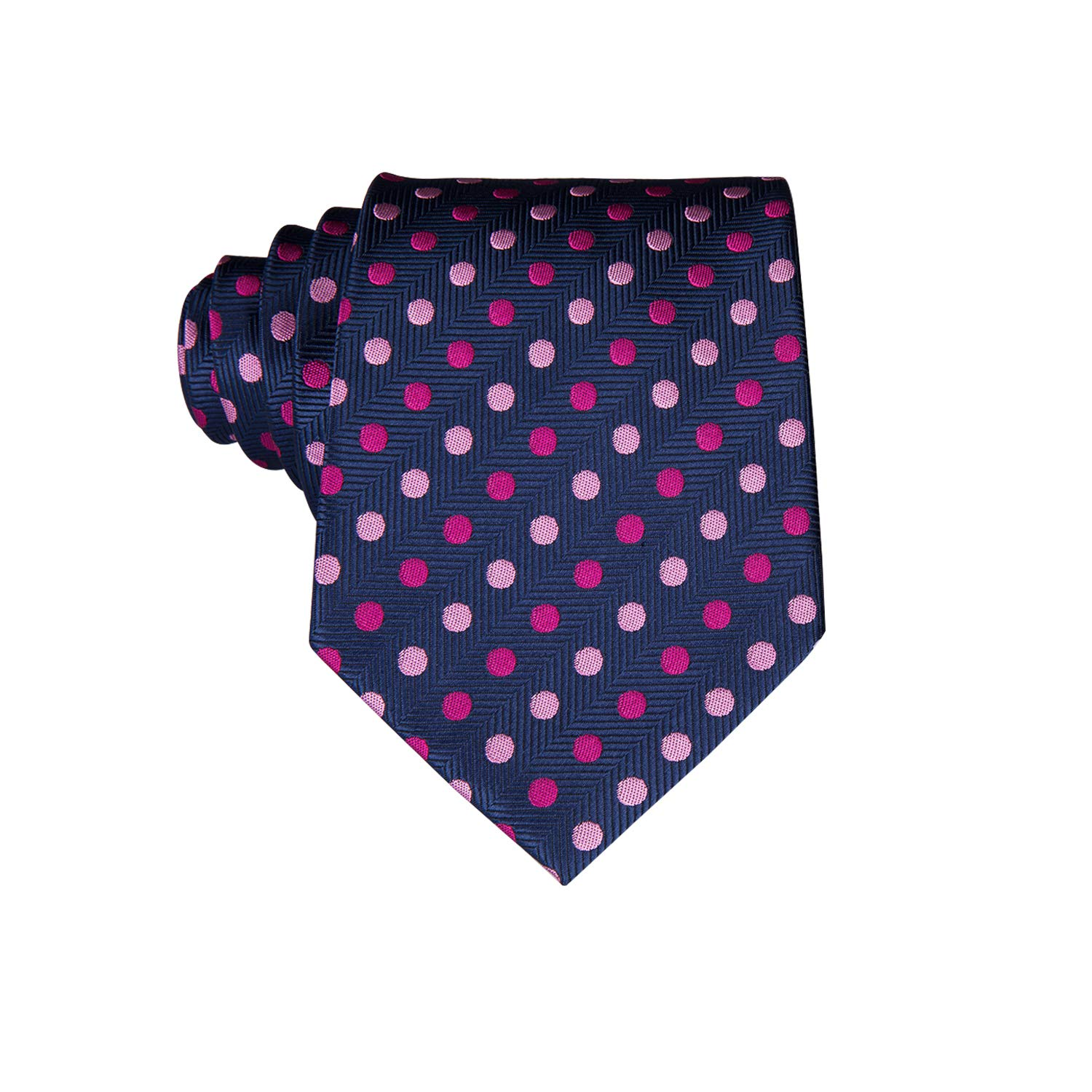 Dubulle Tie for Boys Self Tie Silk Kids Necktie and Pocket Square Set for Age 8-14