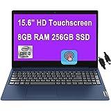 "2021 Flagship Lenovo IdeaPad 3 Laptop 15.6"" HD Touchscreen 10th Gen Intel Core i3-10110U (Beats i5-8200Y) 8GB RAM 256GB SSD I"