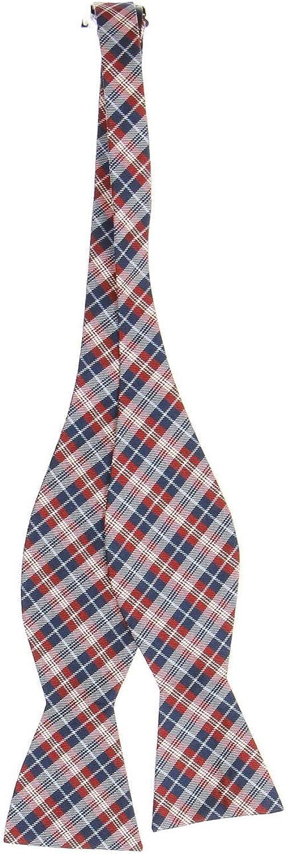 White /& Blue Plaid Bow Tie Countess Mara Mens Red