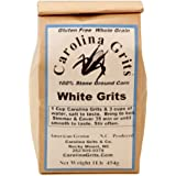 Carolina Grits Company Traditionally Stone Ground Carolina Grits, Whole Grain and Gluten Free (White, 1 Pack (16 ounces))