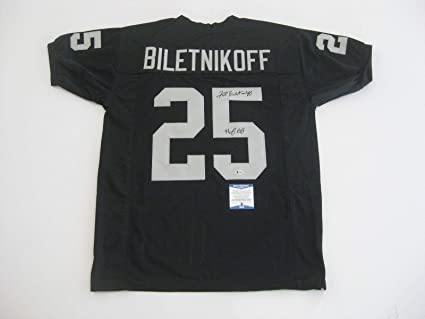 the best attitude 399f3 19d36 Signed Fred Biletnikoff Jersey - Custom Made w HOF 88 ...