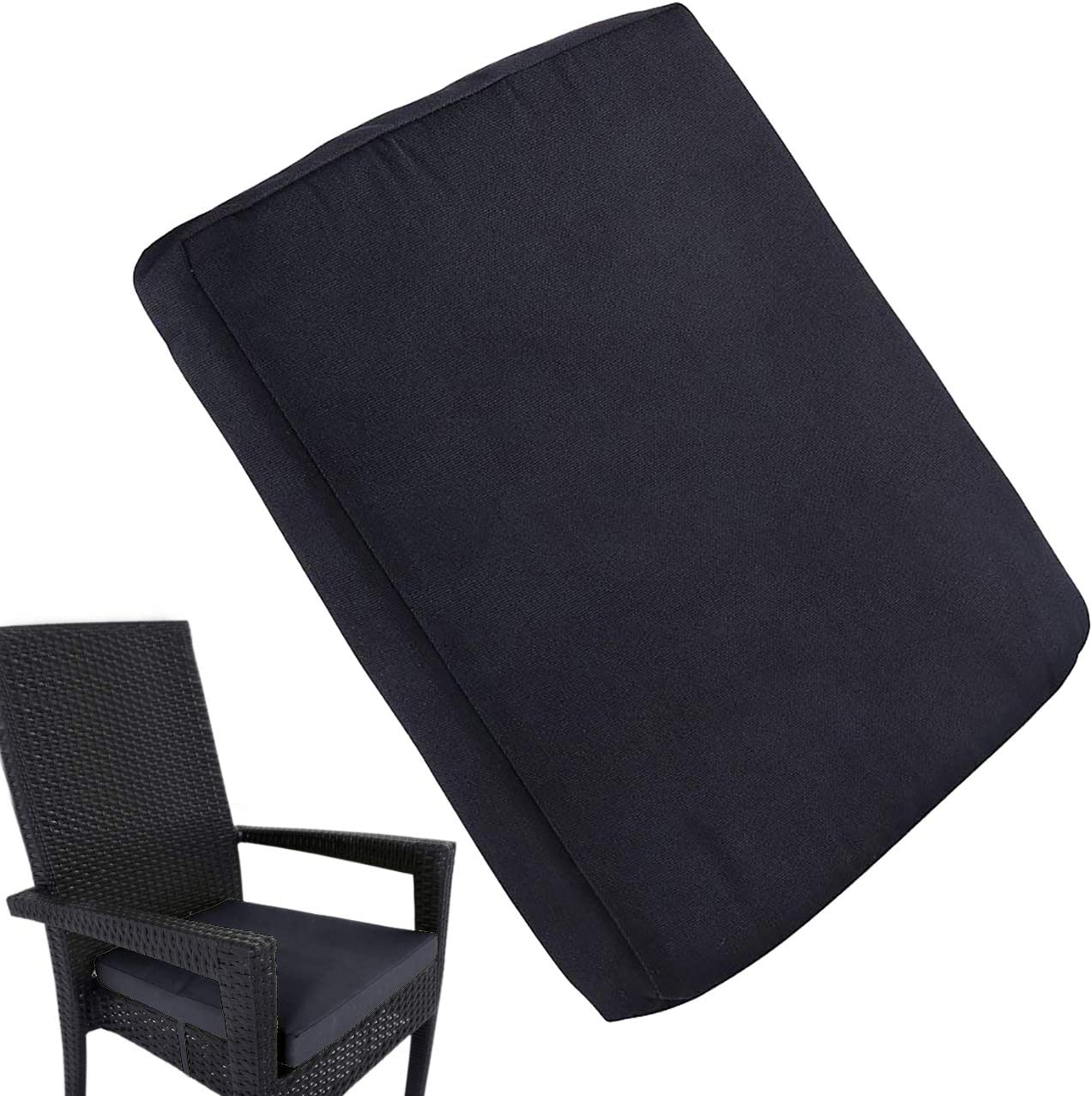 Removable Waterproof Chair Cushion Outdoor Seat Pads Tie On Garden Patio US