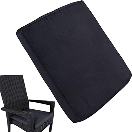 """Amazon.com : Uheng 4 Pack Patio Outdoor Chair Cushions With Ties, Seat Pads Mat, Waterproof Removable Cover, Comfort Memory Foam Nonslip For Garden Deck Picnic Beach Pool -18"""" X 18""""(Black) : Garden"""