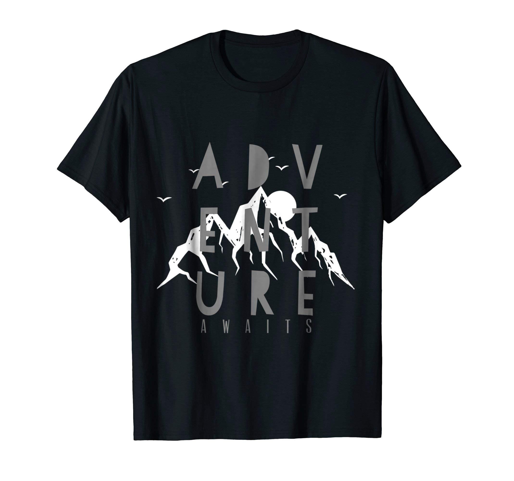 Adventure Awaits Travel Lovers Mountain T Shirt