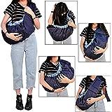 Babymoon Multifunctional Lightweight Nursing Breastfeeding Swaddle Support - Baby Sling Carrier Wrap - Baby Ergonomic Wrap Holder (Blue Designer)