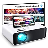 Deals on GooDee WiFi Mini Projector with Projector Screen W80