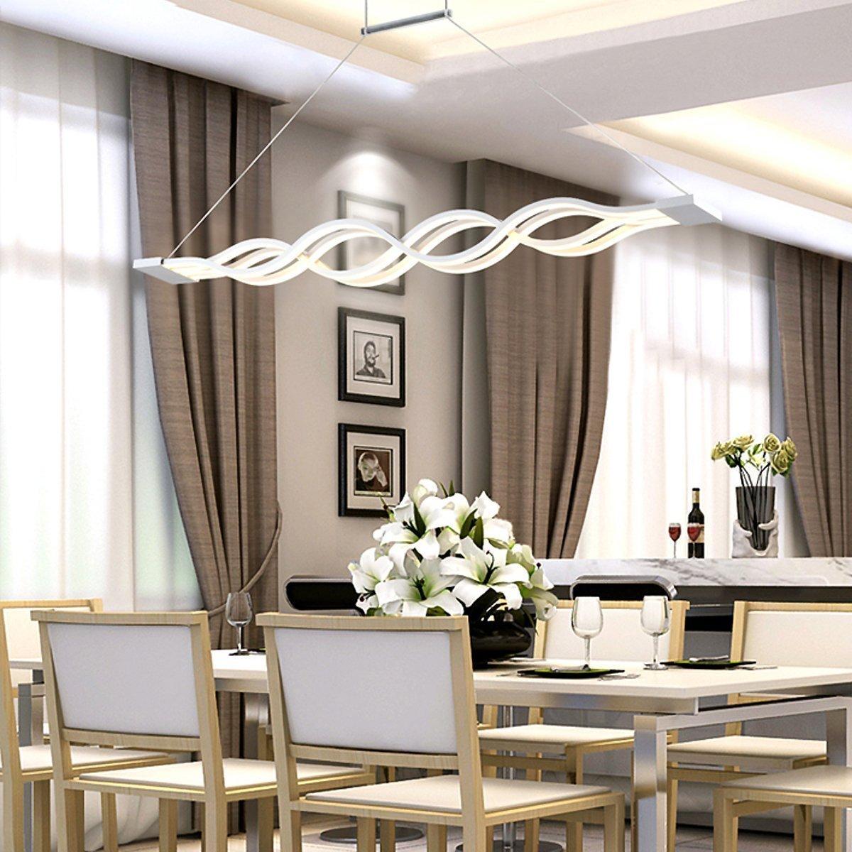 Beeindruckend Moderne Lampen Esstisch Dekoration Von Kjlars Pendelleuchte Led Hängelampe Wohnzimmer Küche Led-pendellampe