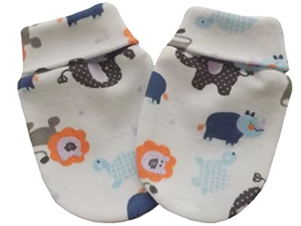Manoplas de algodón orgánico para bebé recién nacido, antiarañazos ...