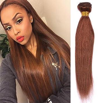 Perfect XCCOCO Hair Virgin Medium Auburn Straight Hair Weaves 8A Grade Brazilian  Hair 4 Bundles Unprocessed Light Amazing Pictures