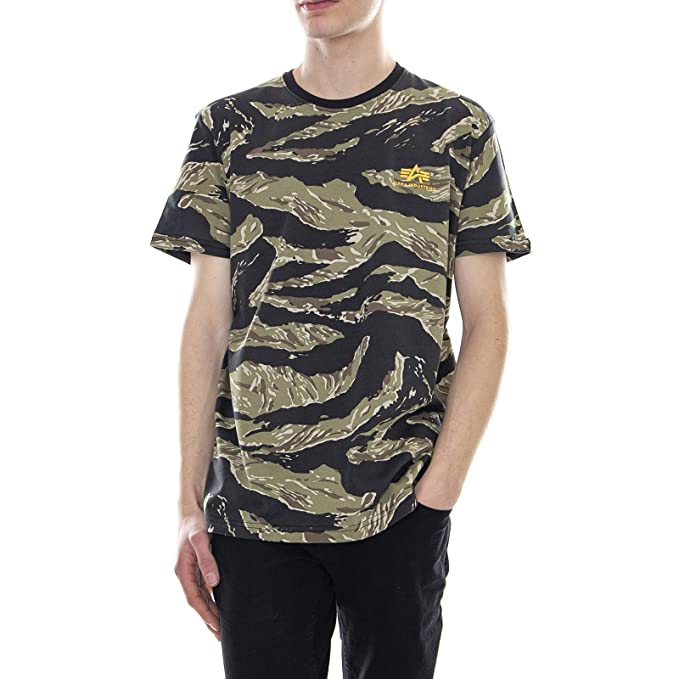 Alpha Industries - Camiseta - Tiger - Camo (L): Amazon.es: Ropa y ...