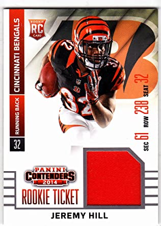 2014 PANINI CONTENDERS JEREMY HILL ROOKIE TICKET JERSEY at ...