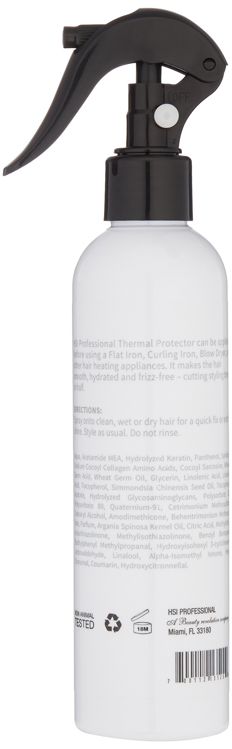 HSI PROFESSIONAL Argan Oil Heat Protector  Protect up to 450º F from Flat Irons & Hot Blow Dry   Sulfate Free, Prevents Damage & Breakage   Made in the USA   8oz, Packaging May Vary by HSI PROFESSIONAL (Image #2)