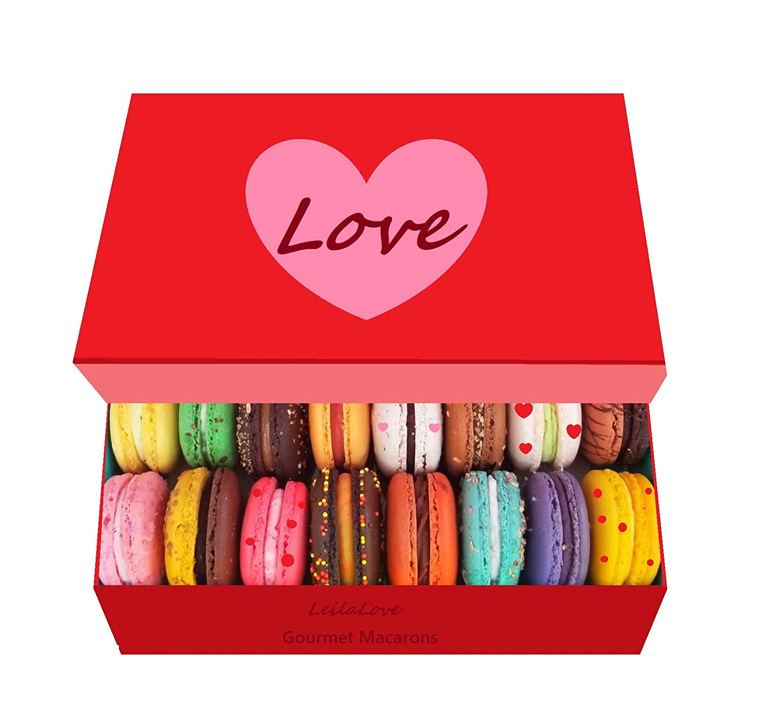 LeilaLove Macarons special 16 flavor collection - box may vary in colors