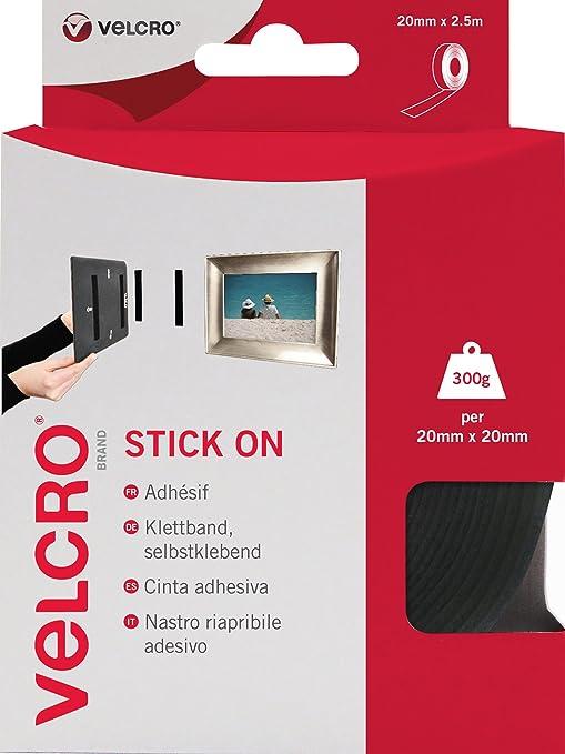 69 opinioni per VELCRO Brand Nastro Riapribile Adesivo Nero 20 mm x 2.5 m