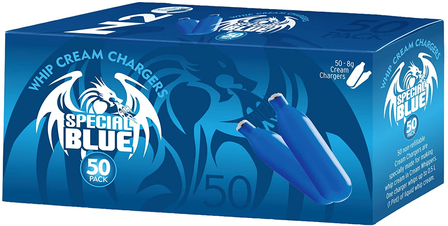 Special Blue N20 Whipped Cream Chargers, 300 Count