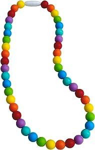 Munchables Rainbow Sensory Chew Necklace (Rainbow - No Knots)
