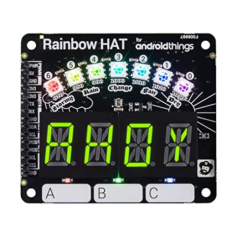f814fdc59c1 Image Unavailable. Image not available for. Color  Pimoroni Rainbow HAT