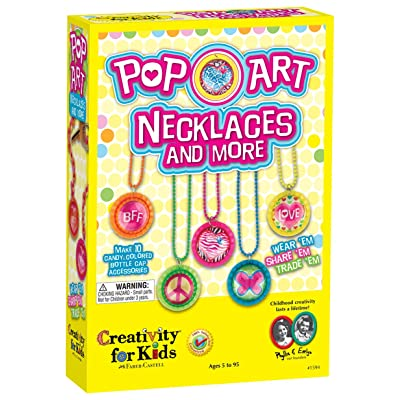 Creativity for Kids Pop-Art Necklaces and More - Makes 10 Bottle Cap Accessories: Toys & Games
