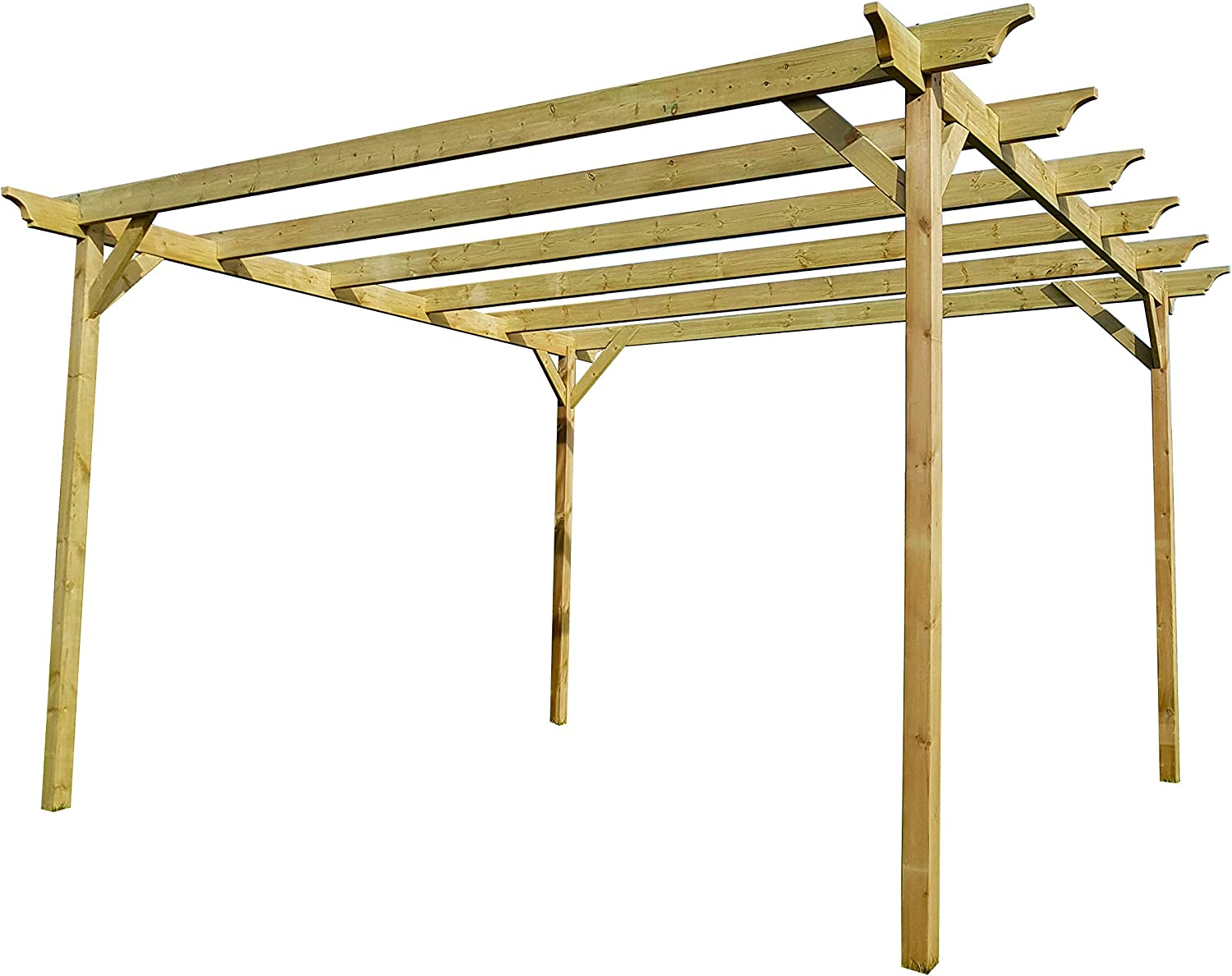 GMS TIMBER LTD Champion - Kit de pérgola de jardín de Madera ...