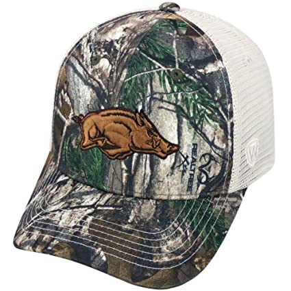 62daa205b93 Image Unavailable. Image not available for. Color  Top of the World Yonder  Realtree Xtra Arkansas Razorback Trucker Hat