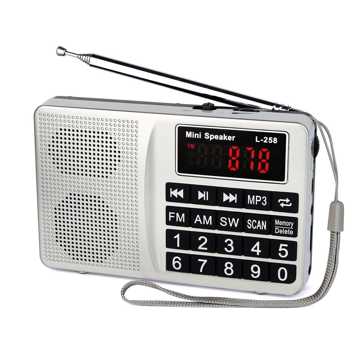 Tivdio L 258 Portable Am Fm Radio Shortwave Transistor How To Build 2 Voice Transmitter Digital Display Support Micro Sd Card Usb Driver Aux Input Mp3 Player Speaker