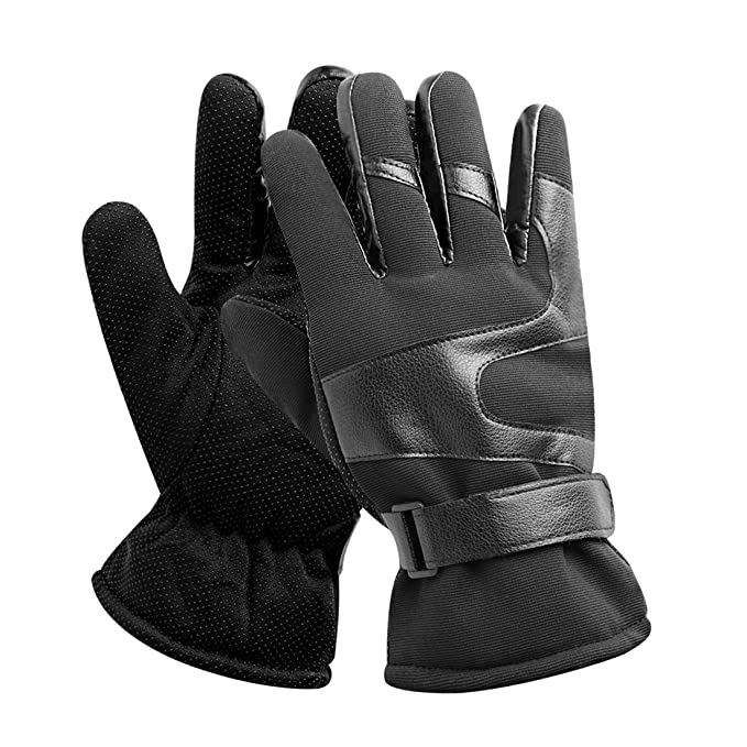 bcaffd2707bdd uxcell Warm Gloves Outdoor Sports Non-slip Gloves Driving Cycling ...