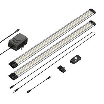 parlat LED lámpara bajo Mueble Siris, Detector de Movimiento, Plano, Cada 50cm,