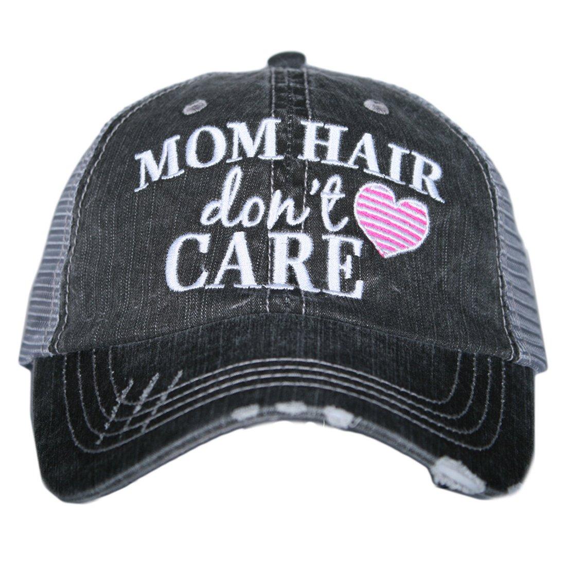 KATYDID Mom Hair Don't Care Women's Trucker Hats Caps
