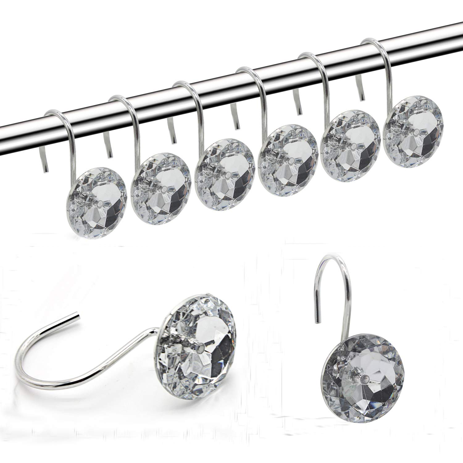 best rated in decorative shower curtain hooks helpful. Black Bedroom Furniture Sets. Home Design Ideas