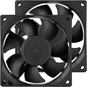 70 mm Computer PC CPU Case Fans DC 12V 70 mm 2.76 inch 2 Pin XH 2.54 7025 High Performance Cooling Fan 3300RPM 2-Pack