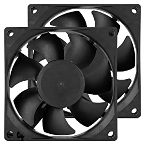 80 mm PC CPU Case Fans DC 12V Computer Fan 80mm 3.15 inch 2 Pin XH 2.54 8025 High Performance Cooling Fan 3000RPM 2-Pack