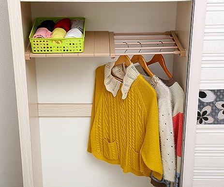 VANCORE Adjustable Storage Rack Separator Wardrobe Cupboard Shelf & Amazon.com: VANCORE Adjustable Storage Rack Separator Wardrobe ...