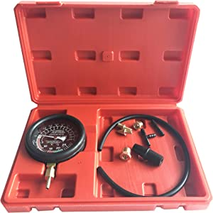 GooMeng Carburetor Carb Valve Fuel Pump Pressure, Vacuum Tester Gauge Test Kit, Engine Vacuum Pressure Tester for Automotive Cars Trucks