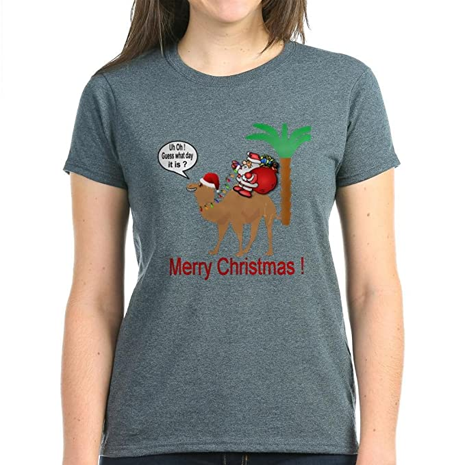 00857e317b Amazon.com  CafePress - Hump Day Camel Merry Christmas T-Shirt ...