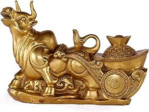 UPANV 2021 Feng Shui Chinese Money Brass OX Figurine Wealth Lucky Figurine Gift & Home Feng Shui Decor