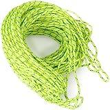 【ノーブランド品】テント用 蛍光ロープ アウトドア 20m グリーン