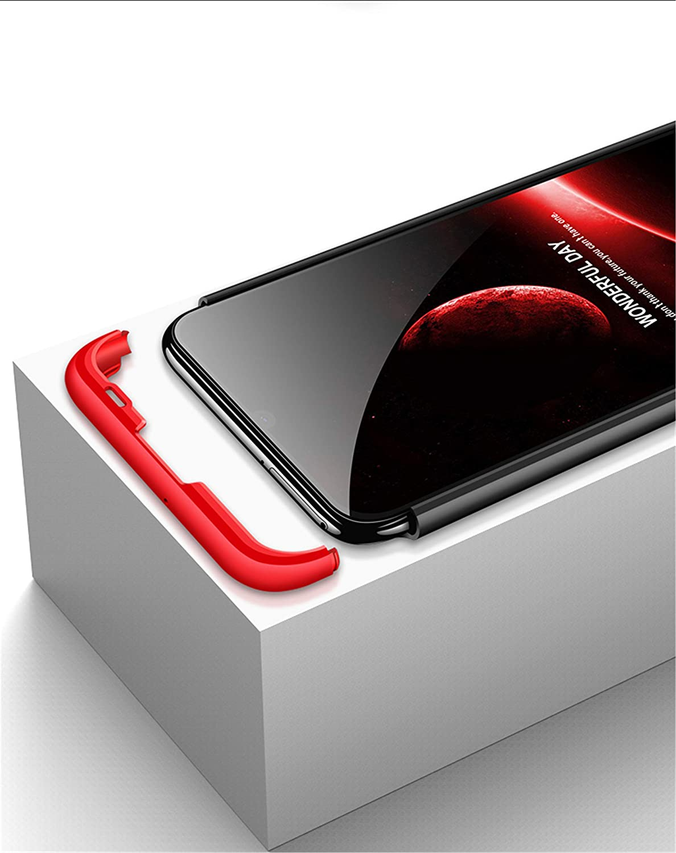 DECHYI compatibles para Funda Huawei P Smart 2019,Cubierta Cristal Templado Matte Ultra Slim PC Hard-Protecci/ón del Cuerpo Scratchproof Cubierta-Oro+Negro